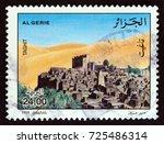 algeria   circa 1998  a stamp...   Shutterstock . vector #725486314