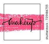 make up logo idea with modern... | Shutterstock .eps vector #725486755