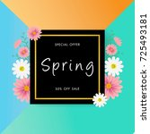 spring sale background with... | Shutterstock .eps vector #725493181