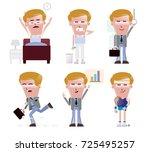 5 businessman different... | Shutterstock .eps vector #725495257