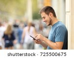 side view of a happy guy...   Shutterstock . vector #725500675