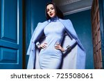 beautiful sexy young woman... | Shutterstock . vector #725508061