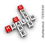 health care costs crossword - stock photo