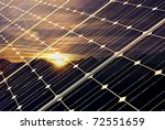 Solar Panel With Mountains And...