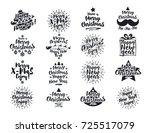 christmas emblem set black... | Shutterstock .eps vector #725517079