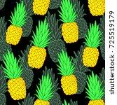 colorful pineapple vector... | Shutterstock .eps vector #725519179