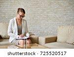 portrait of beautiful female... | Shutterstock . vector #725520517