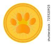 paw print dog gold medal | Shutterstock .eps vector #725520925