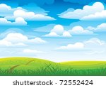 group clouds on blue sky and... | Shutterstock .eps vector #72552424