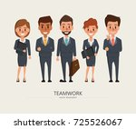 business people teamwork with... | Shutterstock .eps vector #725526067
