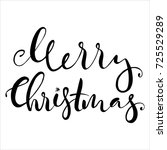 lettering with merry christmas. ... | Shutterstock .eps vector #725529289