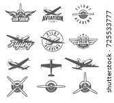 Set Of Airplane Show Labels....