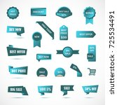 vector stickers  price tag ... | Shutterstock .eps vector #725534491