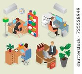 development company isometric... | Shutterstock .eps vector #725538949