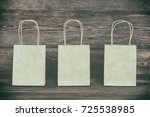 mockup of blank shopping bags.... | Shutterstock . vector #725538985