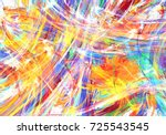 paint splash flame abstract ... | Shutterstock . vector #725543545