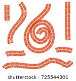 diwali fire crackers garland... | Shutterstock .eps vector #725544301