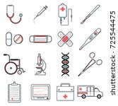 set of medical icons vector...   Shutterstock .eps vector #725544475