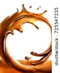 liquid chocolate  caramel or... | Shutterstock .eps vector #725547235