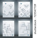 vector banner set with abstract ... | Shutterstock .eps vector #725547739