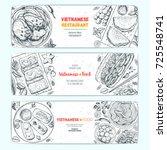 vietnamese food top view.... | Shutterstock .eps vector #725548741