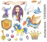 fairytale collection   princess ... | Shutterstock . vector #725555095