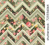 seamless floral patchwork... | Shutterstock .eps vector #725556064