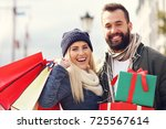 picture of couple shopping for... | Shutterstock . vector #725567614