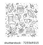 autumn pattern. harvest. fruit  ...   Shutterstock .eps vector #725569315