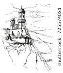 rocca della guaita  the most... | Shutterstock .eps vector #725574031