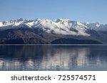 mount aspiring national park ... | Shutterstock . vector #725574571