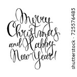 vector merry christmas and... | Shutterstock .eps vector #725576485