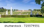 historic gardens and palace... | Shutterstock . vector #725579551