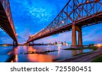 skyline of new orleans with... | Shutterstock . vector #725580451