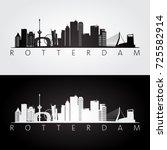 rotterdam skyline and landmarks ...   Shutterstock .eps vector #725582914