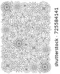 pattern for adult coloring book ... | Shutterstock .eps vector #725584141