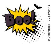 halloween style pop art icon... | Shutterstock .eps vector #725590441