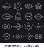 set of hipster logo. | Shutterstock .eps vector #725592181