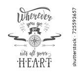 travel. vector hand drawn... | Shutterstock .eps vector #725593657