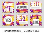 abstract vector layout... | Shutterstock .eps vector #725594161