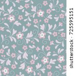cute floral pattern in the... | Shutterstock .eps vector #725595151