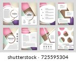abstract vector layout... | Shutterstock .eps vector #725595304