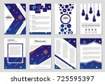 abstract vector layout... | Shutterstock .eps vector #725595397