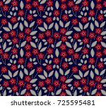 floral background in vintage... | Shutterstock .eps vector #725595481