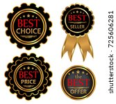 collection four vector badges ... | Shutterstock .eps vector #725606281