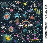 vector wallpaper pattern ... | Shutterstock .eps vector #725607115