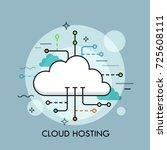 concept of cloud computing... | Shutterstock .eps vector #725608111