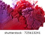 abstract shapes of ink in water ... | Shutterstock . vector #725613241