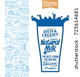 vector milk logo. milk  yogurt  ... | Shutterstock .eps vector #725614681