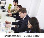 financial data presentation   Shutterstock . vector #725616589